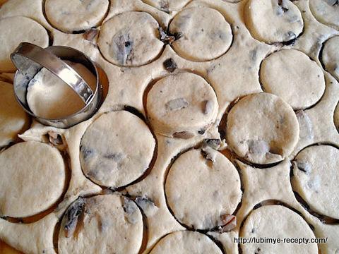 Американская кухня - сконы с грибами 6