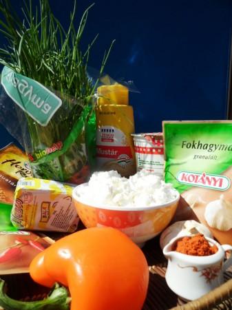 закуска с творогом по-венгерски