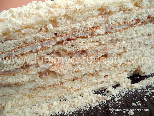 Творожный торт на сковороде4