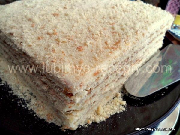 Творожный торт на сковороде5