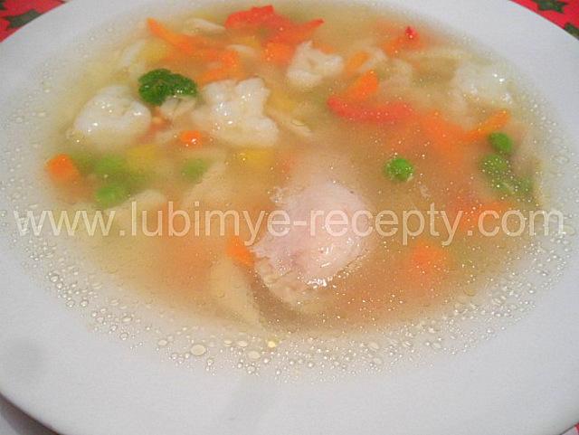 куриный овощной суп рецепт с фото
