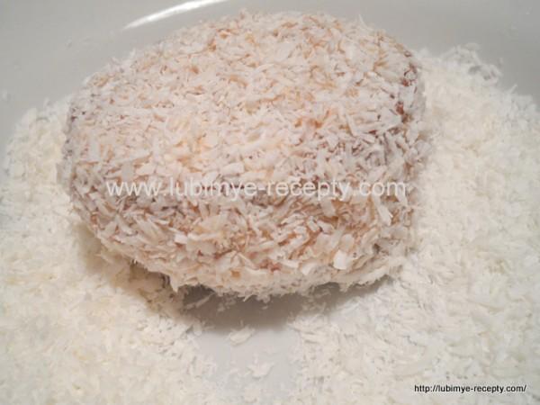 Рецепт кокосово-ромового пирожного с белым шоколадом по-венгерски