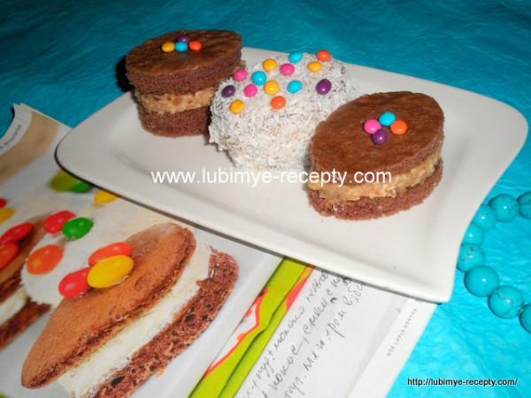 Рецепт кокосово-ромового пирожного с белым шоколадом