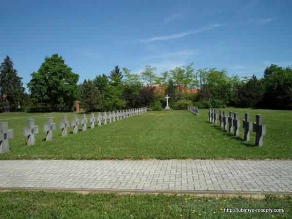 Венгрия, г.Сомбатхэй, военное кладбище, памятник венгерским солдатам