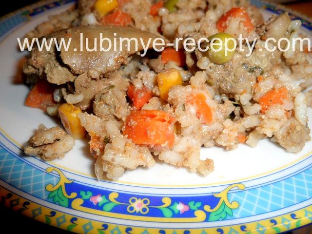 Рис с куриной печенью рецепт