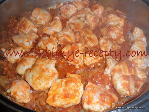 Венгерская кухня - паприкаш из курицы 2