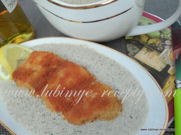 рецепт Рыба в укропно-грибном соусе