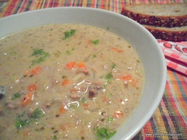 Májgaluskaleves или Суп с печеночными галушками/нокедли по-венгерски