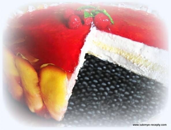 Торт с малиной 17