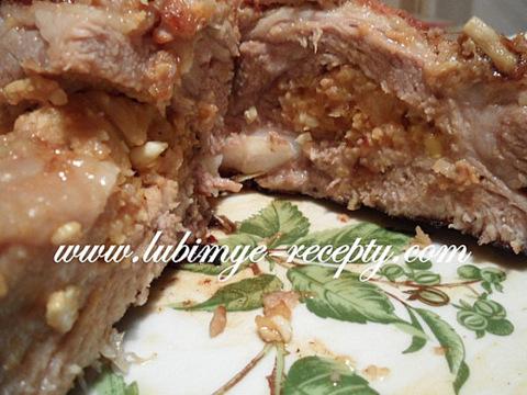 Венгерская кухня. Рецепт запечёных свиных рёбрышек с карманом 3
