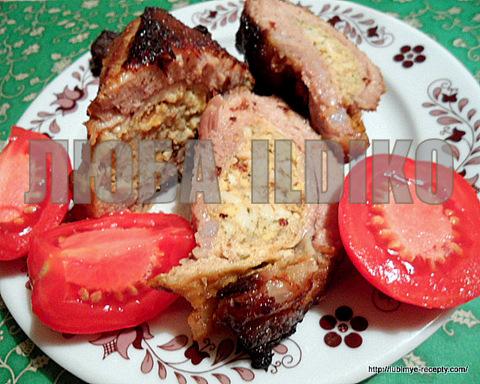 Венгерская кухня. Рецепт запечёных свиных рёбрышек с карманом 5