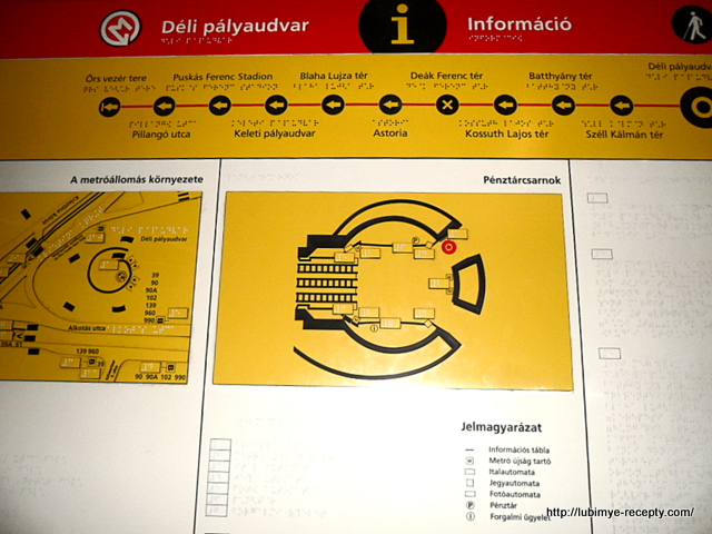 Схема 1 линии будапештсткого метро