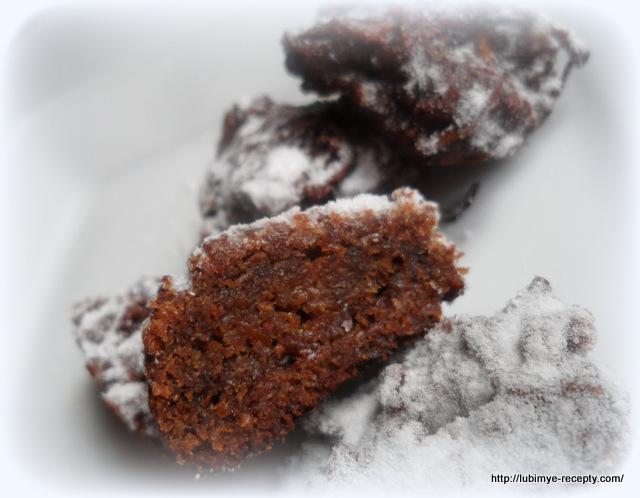 Морковно-шоколадное печенье из ржаной муки