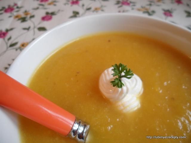 Крем-суп из тыквы и сельдерея