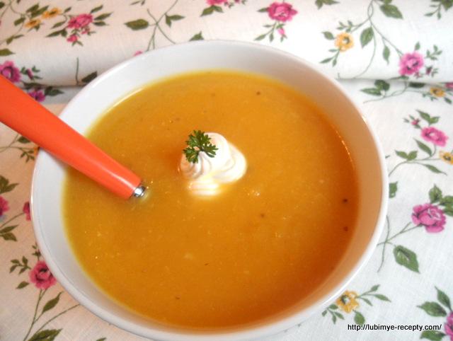 Рецепт супа пюре из тыквы и сельдирея