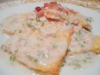 Литовская кухня. Картофельные пышки Швильпикай (Švilpikai) под соусом из бекона