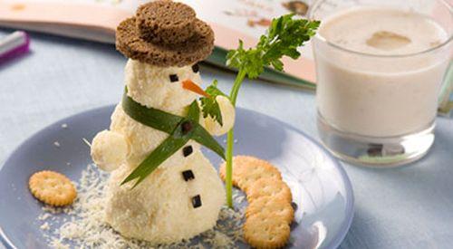 Салат закусочный «Снеговик»