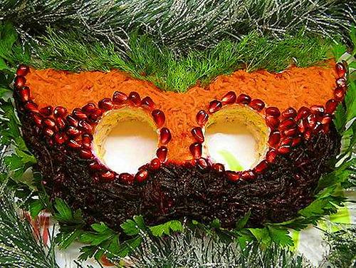 Салат «Карнавальная маска»