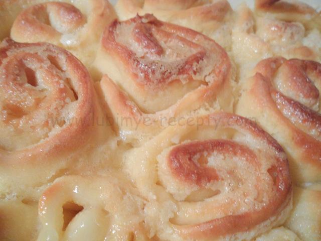 Булочка домашняя рецепт Сладкие пышные булочки Домашняя