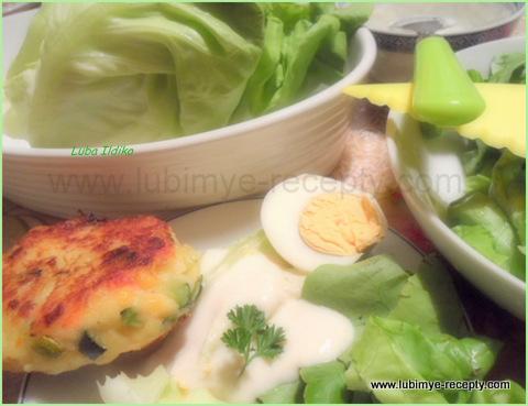 рецепт зелёный салат с соусом из горчицы и натурального йогурта