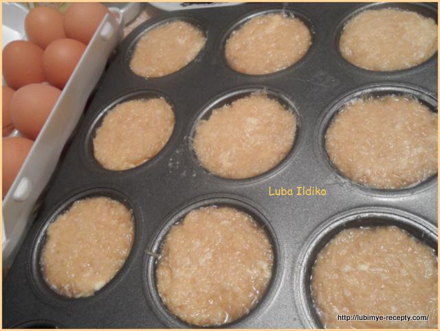 рецепт Картофельные кексы с маринованной свеклой, хреном и кервелем