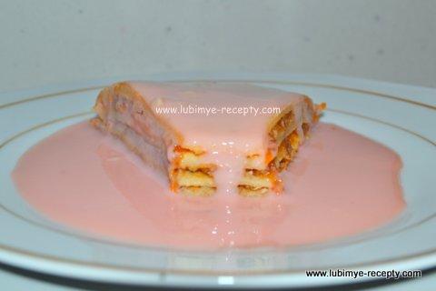 Торт на сковороде с пуншевой подливкой