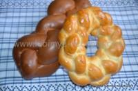 Сладкий пасхальный венгерский пирог или Калач с изюмом и орехами