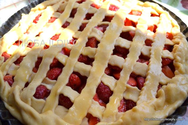 Пирог с клубникой рецепт с