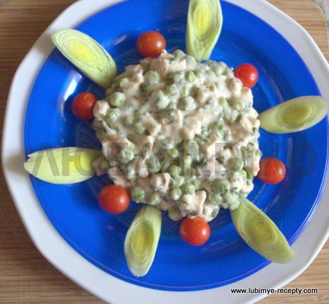 Красивый салат с  курицей 3