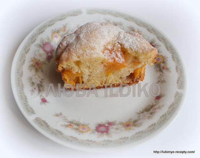 Кексы с персиками 3