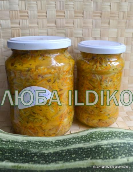 Салат по-корейски с кабачками и морковью