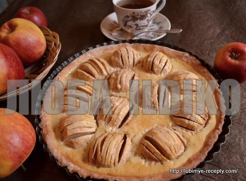Эльзасский пирог с яблоками