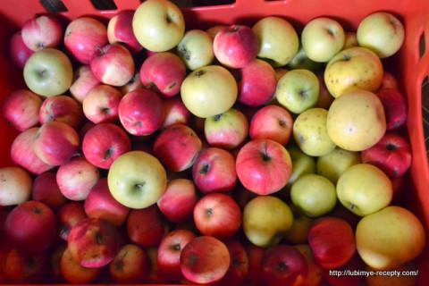 Домашние заготовки на зиму. Компот из запечёных яблок.