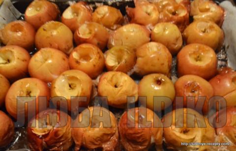 Домашние заготовки на зиму. Компот из запечёных яблок 9
