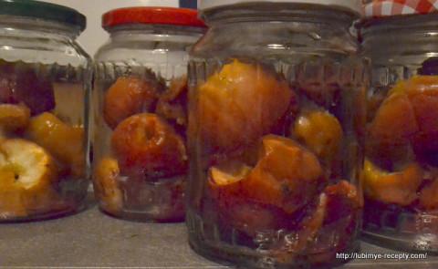 Домашние заготовки на зиму. Компот из запечёных яблок.10