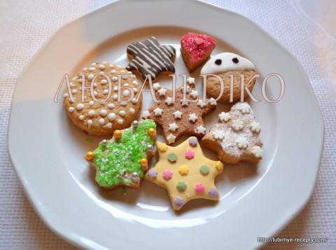 Рождественское медовое печенье
