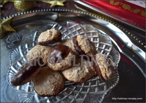 Печенье безе с кокосом, орехами и шоколадом 7