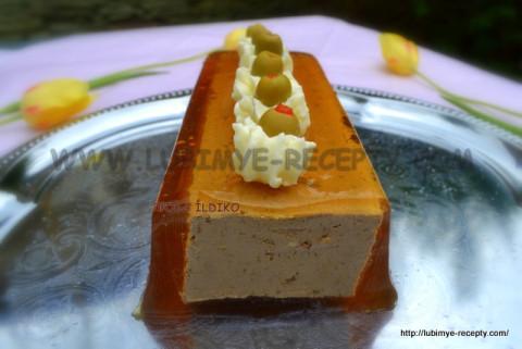 Pechjonochnyj pashtet iz kurinoj pecheni s maslom v zhele 6