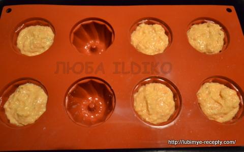 Несладкие морковные маффины с беконом 2