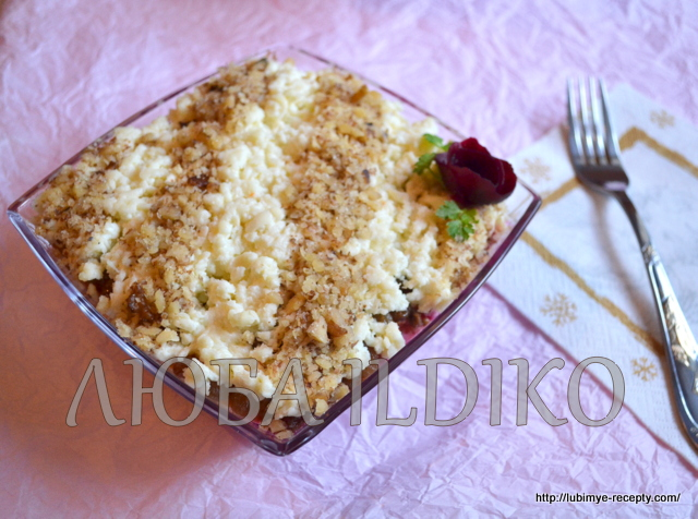 Простой салат со свеклой и черносливом на праздничный стол 1