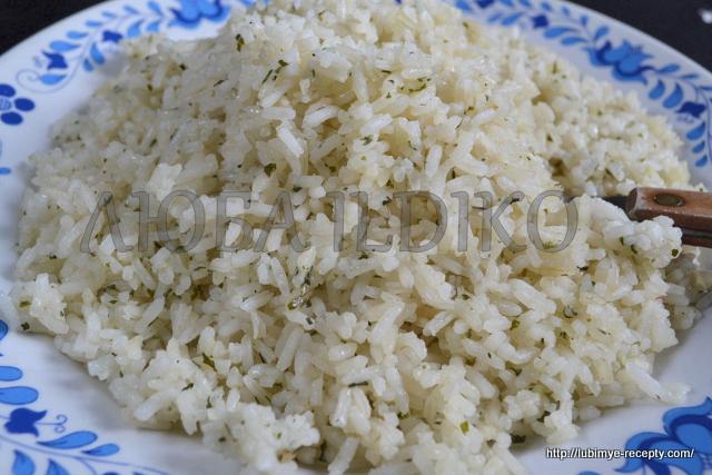 Вкусный рассыпчатый рис на гарнир 1