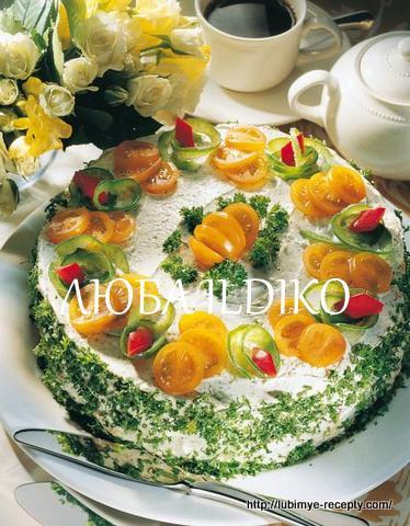 Праздничный закусочный скандинавский мясной торт 4