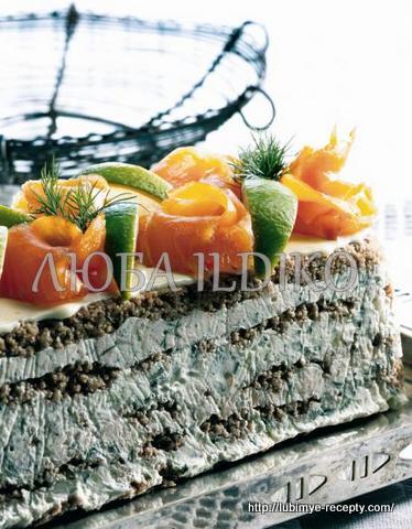 Праздничный закусочный скандинавский мясной торт 3