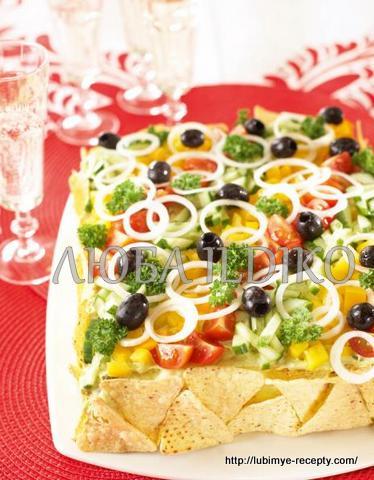 Праздничный закусочный скандинавский мясной торт