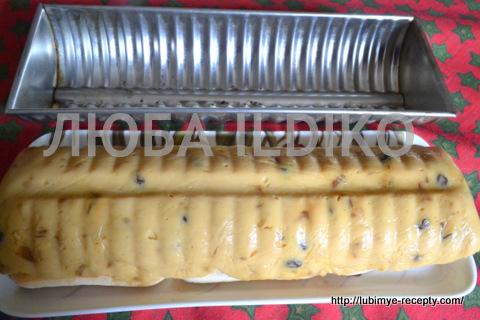 яблочно-ромовый Пудинг с печеньем и изюмом