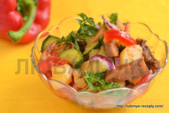 """Салат с маринованными грибами """"Кодру"""" 5"""