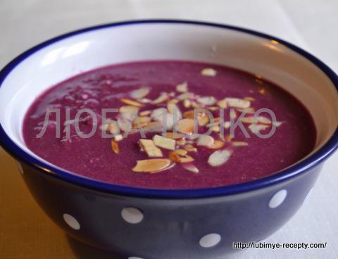 Суп из красной капусты 1