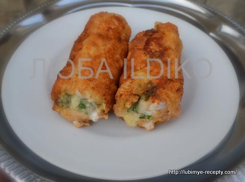 Куриные рулетики с сыром 4