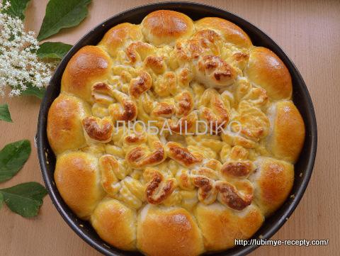 Пирог из булочек 11