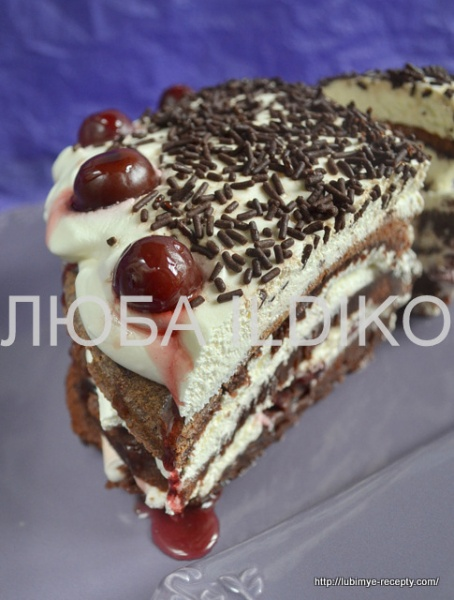 Торт чёрный лес 3